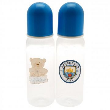 Manchester City Baby Feeding Bottles (2 Pack)